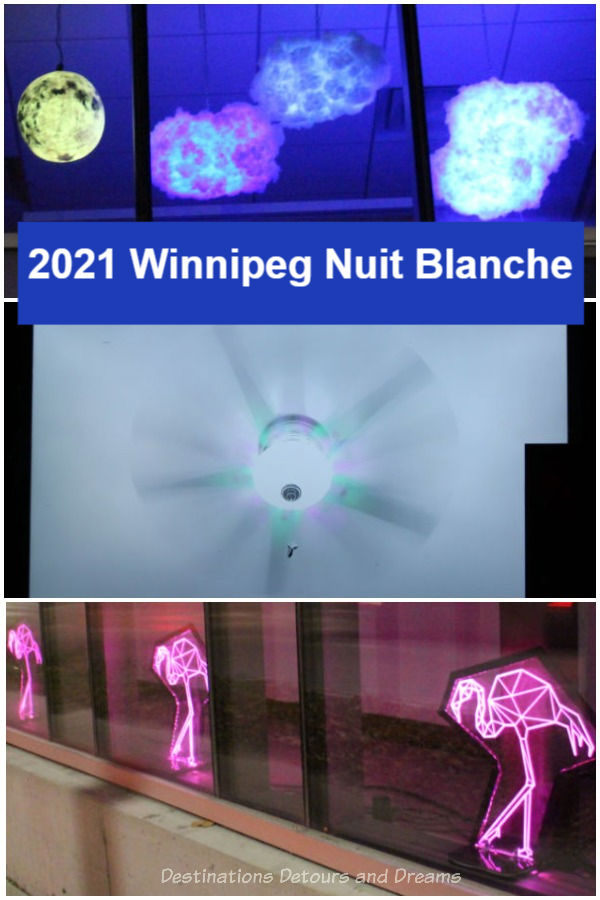 Illuminate the Night: Display of contemporary art in Winnipeg, Manitoba, Canada, during 2021 Nuit Blanche, part of Culture Days