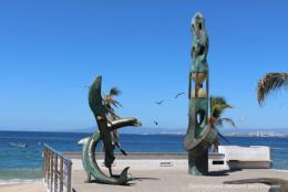 Seaside Sculptures Along the Malecon
